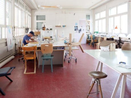 Florian Hauswirth at his studio (c) Pro Helvetia