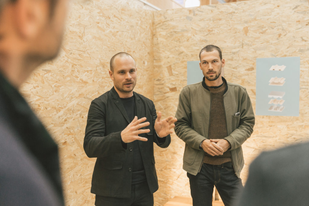 Leon Laskowski & Jérôme Rütsche - Design Switzerland at Designers' Saturday 2018 © Nicolas Schopfer