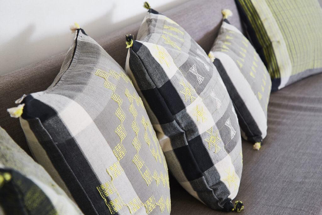 Heated cushions, «Anuvad» (c) Chhail Khalsa
