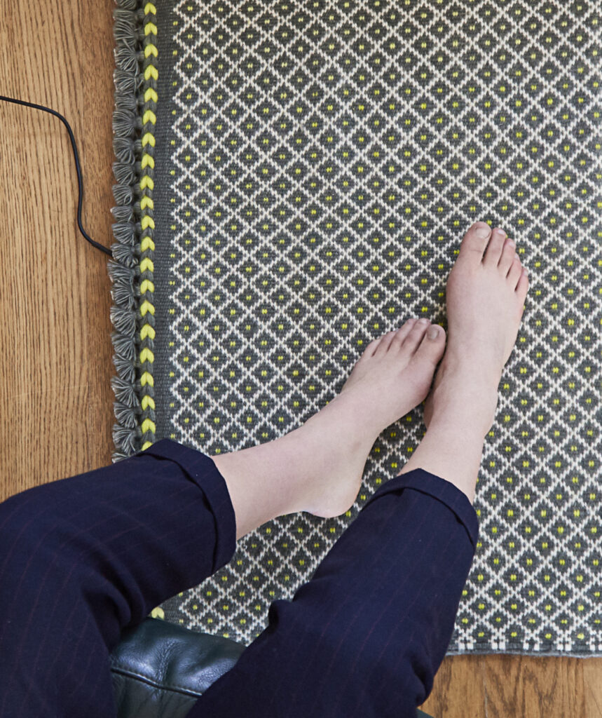 Heated rug, «Anuvad» (c) Chhail Khalsa